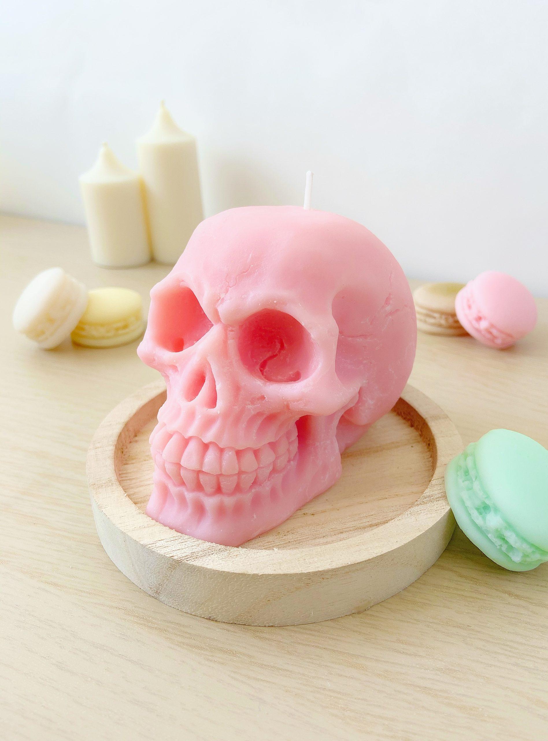 Bougie crâne tête de mort skull